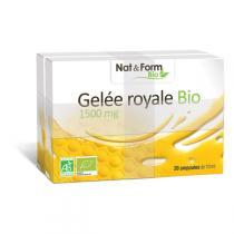 Nat & Form - Gelée Royale Bio - 2 x 20 ampoules de 10mL