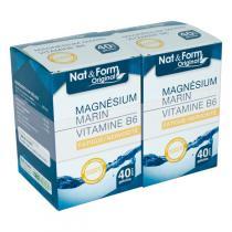 Nat & Form - Magnésium + Vitamine B6 - 2 x 40 Gélules
