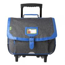 Tann's - Cartable Trolley Classic 38cm Chiné-Bleu