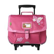 Tann's - Cartable Trolley Collector Butterfly 38cm Rose