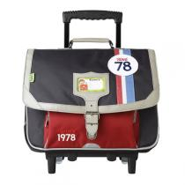 Tann's - Cartable Trolley Collector Coccinelle 38cm Gris-rouge