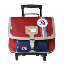 Tann's - Cartable Trolley Collector Coccinelle 38cm Rouge-bleu