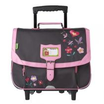 Tann's - Cartable Trolley Collector Flowers 38cm Gris