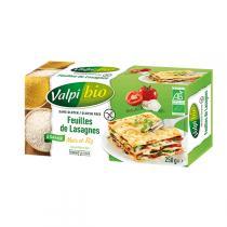 Valpibio - Feuilles de lasagnes Maïs-Riz Bio 250g