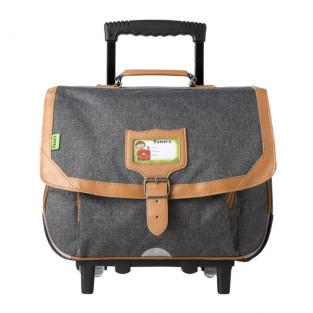 Tann's - Cartable Trolley Classic 38cm Chiné-Naturel