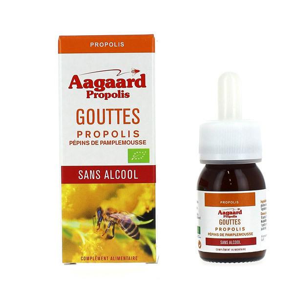 Aagaard Propolis - Gouttes Propolis + Extrait de Pépins de Pamplemousse 30mL