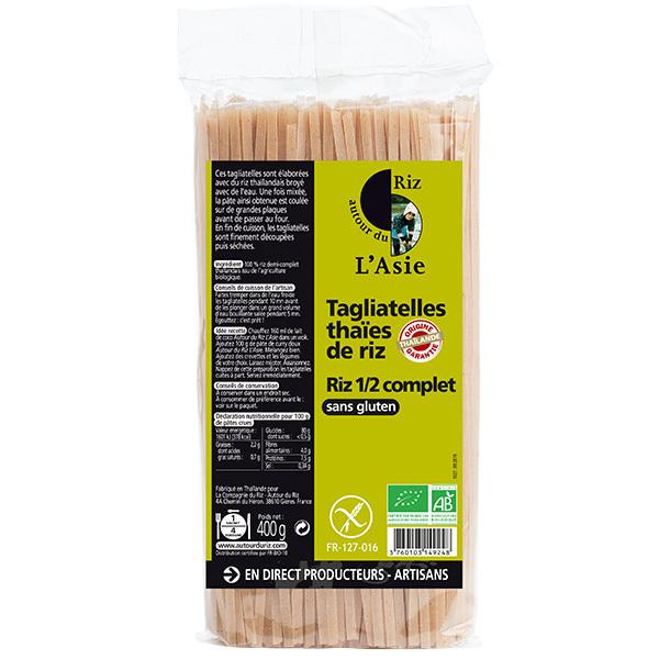 Autour du Riz - Tagliatelles thaïes de riz demi complet 400g