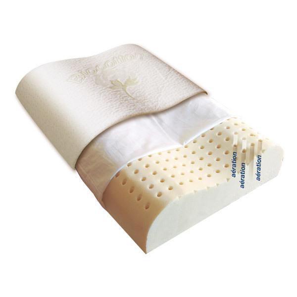 Biorelax - Oreiller Latex Cervical 40 x 60cm