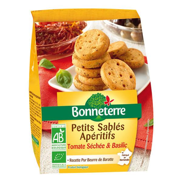 Bonneterre - Petits sablés apéritifs tomate séchée basilic 90g
