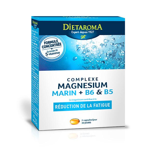 Dietaroma - Complexe Magnésium marin + B6 & B5 60 caps