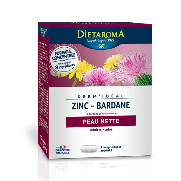 Dietaroma - Dermidéal Complexe Zinc-Bardane 30 comp.