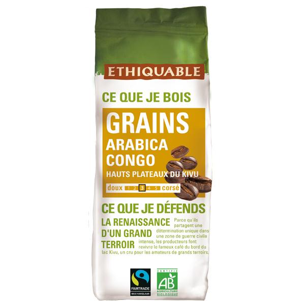 Ethiquable - Café grains Congo 250g