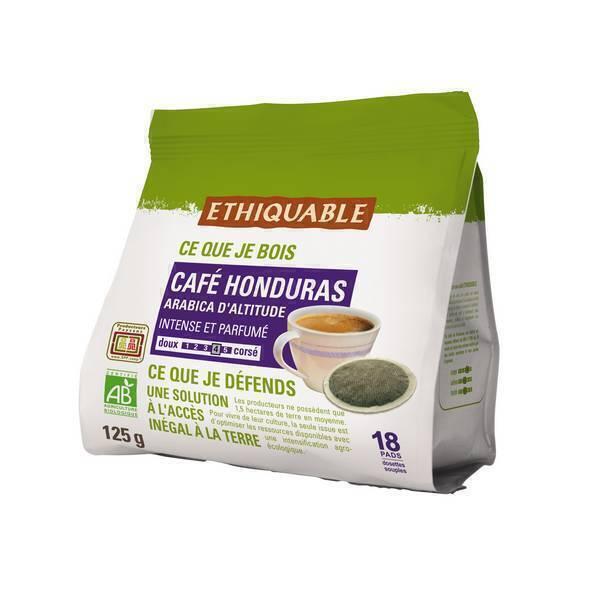 Ethiquable - Café Honduras 18 dosettes
