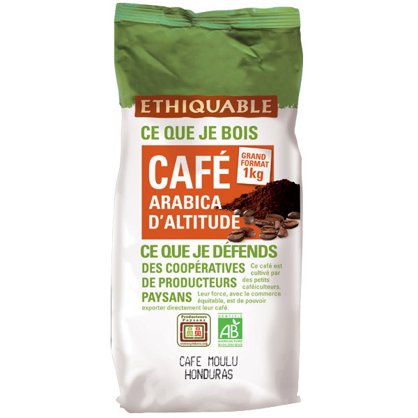 Ethiquable - Café moulu Honduras 1kg