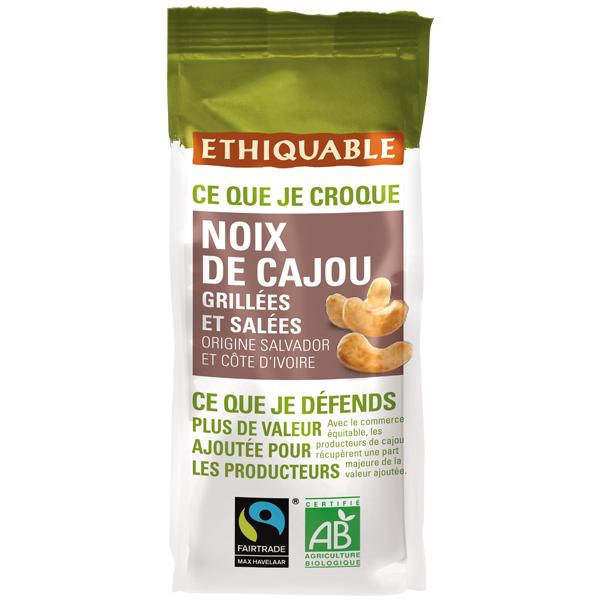 Ethiquable - Noix de cajou grillées salées Salvador/Côte d'Ivoire/Inde 125g