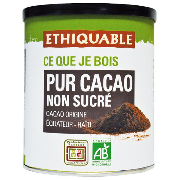 Ethiquable - Pur cacao non sucré Equateur/Haïti BIO 200g