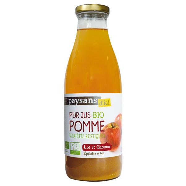 Ethiquable - Pur jus de pomme Lot et Garonne BIO 1L