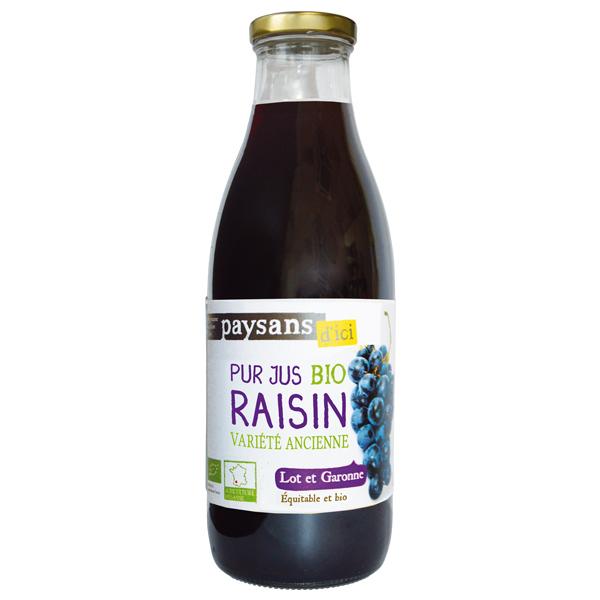Ethiquable - Pur jus de raisin Lot et Garonne BIO 1L