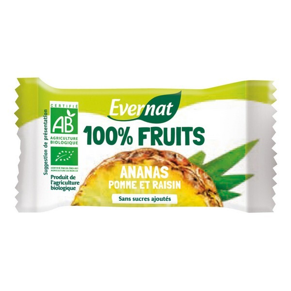Evernat - Barre 100% fruit Ananas 30g