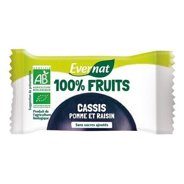 Evernat - Barre 100% fruit Cassis 30g