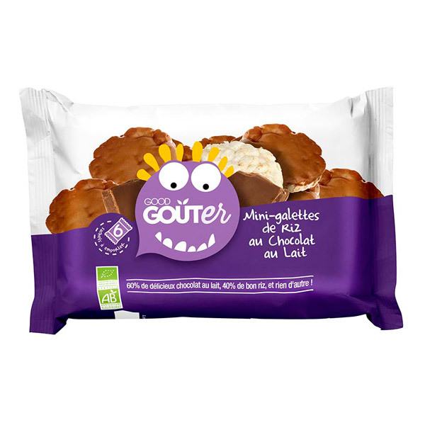 Good Gout - Boite 6 sachets mini-galettes riz chocolat au lait dès 36 mois