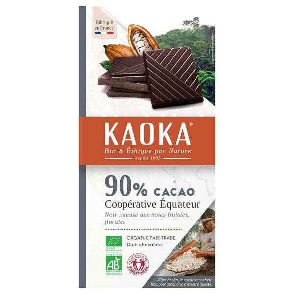 Kaoka - Tablette chocolat noir 90% Equateur 100g