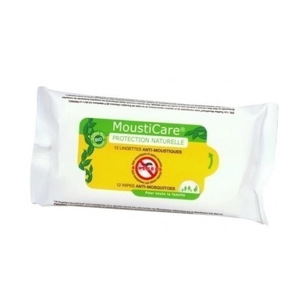 Mousticare - Boîte de 12 lingettes anti-moustiques
