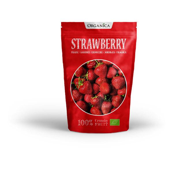Organica - Crunchy fruit goût fraise lyophilisée bio 12g