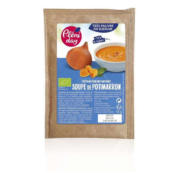 Pléniday - Soupe instantanée de potimarron pauvre en sodium 18g