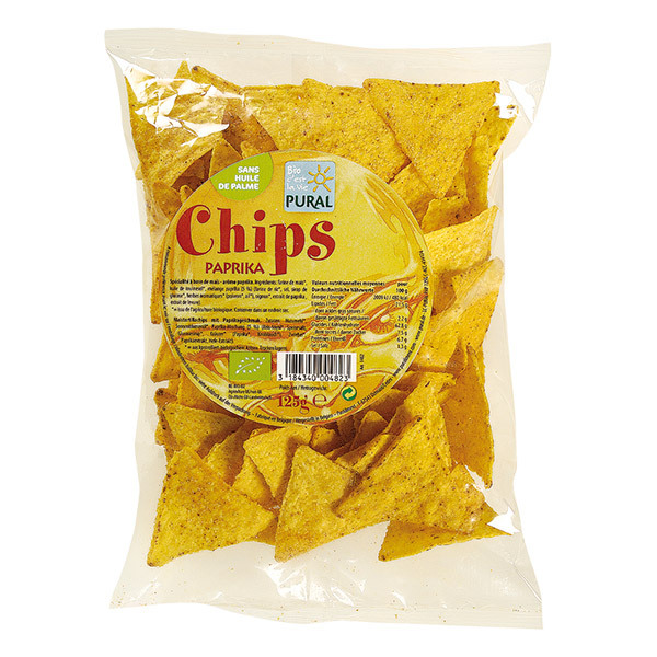 Pural - Offre gourmande Chips Maïs Paprika bio -125 gr x 3
