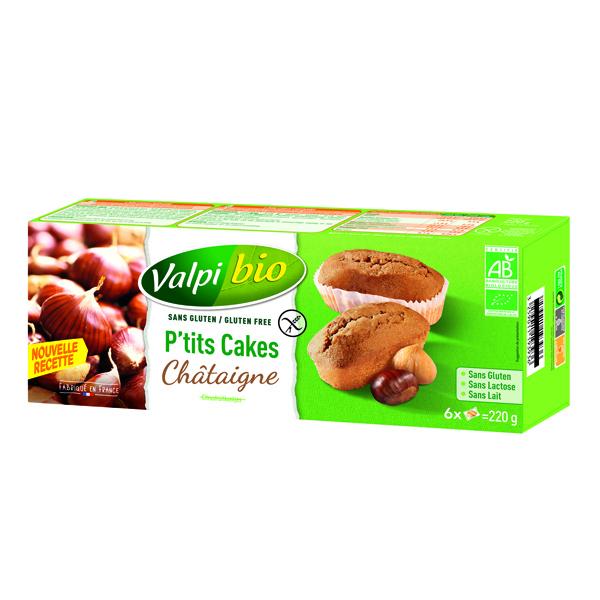Valpibio - P'tits Cakes Châtaigne Bio 220g