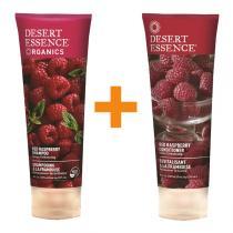 Desert Essence - Lot Shampooing et Après-Shampooing à la Framboise