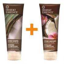 Desert Essence - Lot Shampooing et Après-Shampooing à la Noix de Coco