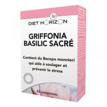 Diet Horizon - Lot de 2 x Griffonia Basilic Sacré Action 24h - 2 x 60 comprimés