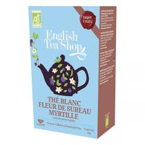 English Tea Shop - Thé blanc fleur de sureau myrtille Bio 20 sachets