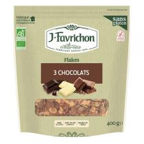 Favrichon - Flakes 3 Chocolats Bio 400g
