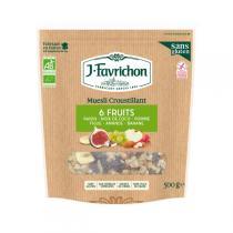 Favrichon - Muesli croustillant 6 fruits Bio 500g