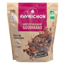 Favrichon - Muesli croustillant Duo de chocolats 500g