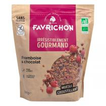 Favrichon - Muesli croustillant Framboise Chocolat 500g