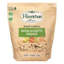 Favrichon - Muesli Tradition raisin noisette amande Bio 500g