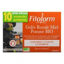 Fitoform - Gelée Royale Miel Pomme x 30 Ampoules