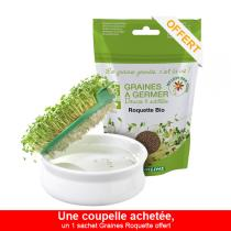 Germ'line - Offre Coupelle de Germination - 1 sachet Graines Roquette offert