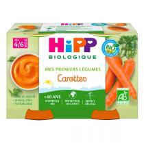 Hipp - 2 pots Carottes 2x125g Dès 4-6 mois