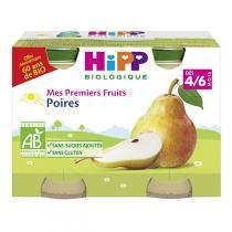 Hipp - Mes Premiers Fruits Poires 2x125g Dès 4-6 mois