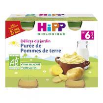 HiPP - 2 pots Purée de Pommes de terre 2x125g 6 mois