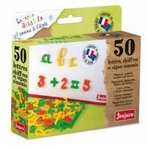 Jeujura - Lettres cursives et chiffres 50 magnets - Dès 3 ans