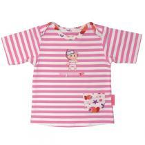 Mayoparasol - Tee shirt anti uv Marinière rose