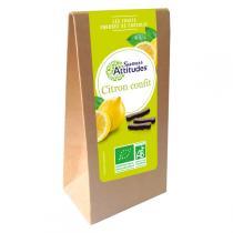 Saveurs Attitudes - Lamelles de Citron confit enrobées de Chocolat Noir 125g