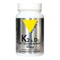 Vitall+ - Vitamines K2 & D3 50µg 60 comprimés
