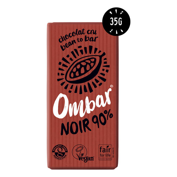 Ombar - Chocolat cru 90% cacao bio 35g